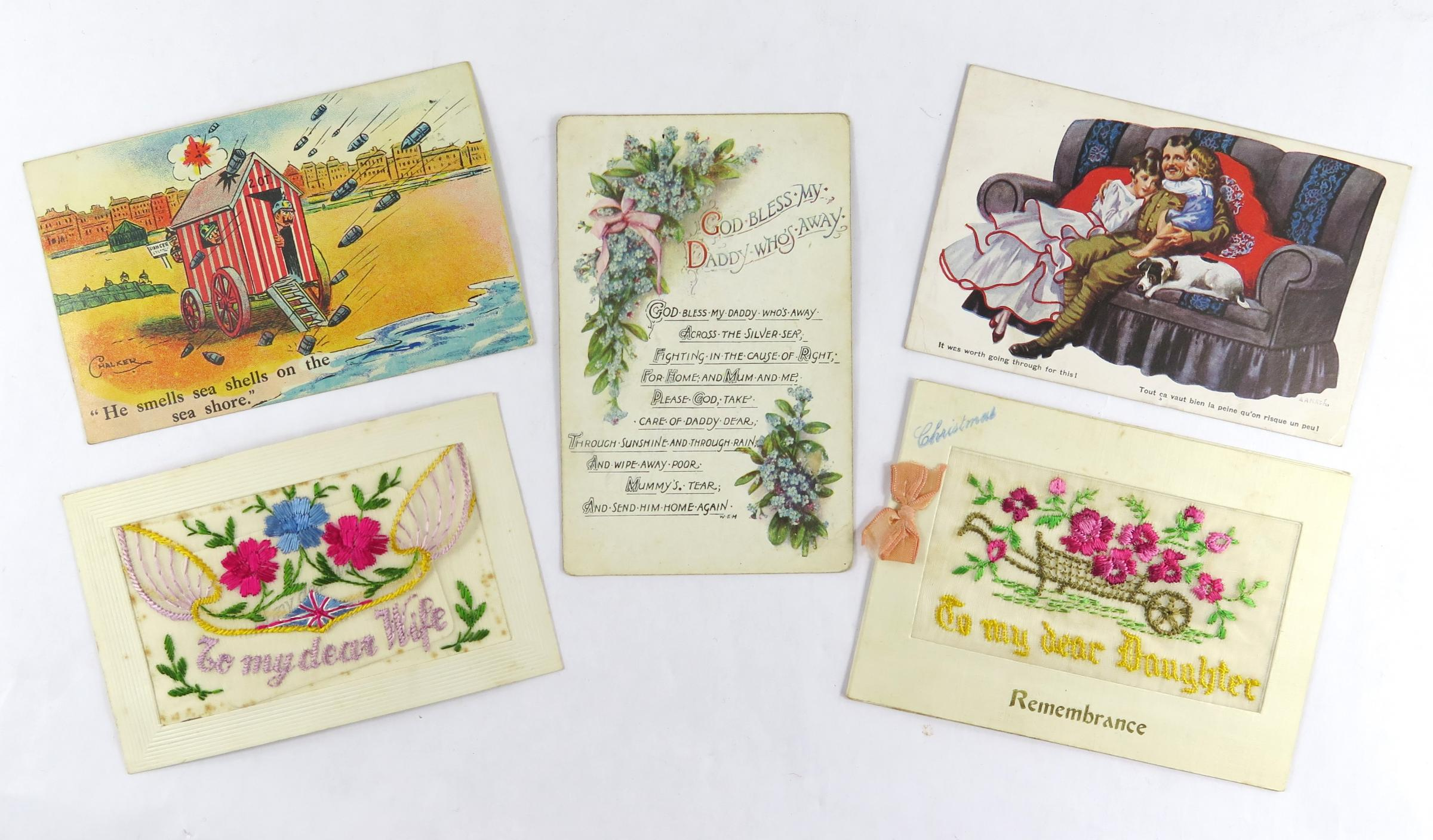 The collection of 600 postcards is expected to fetch between £300-500.