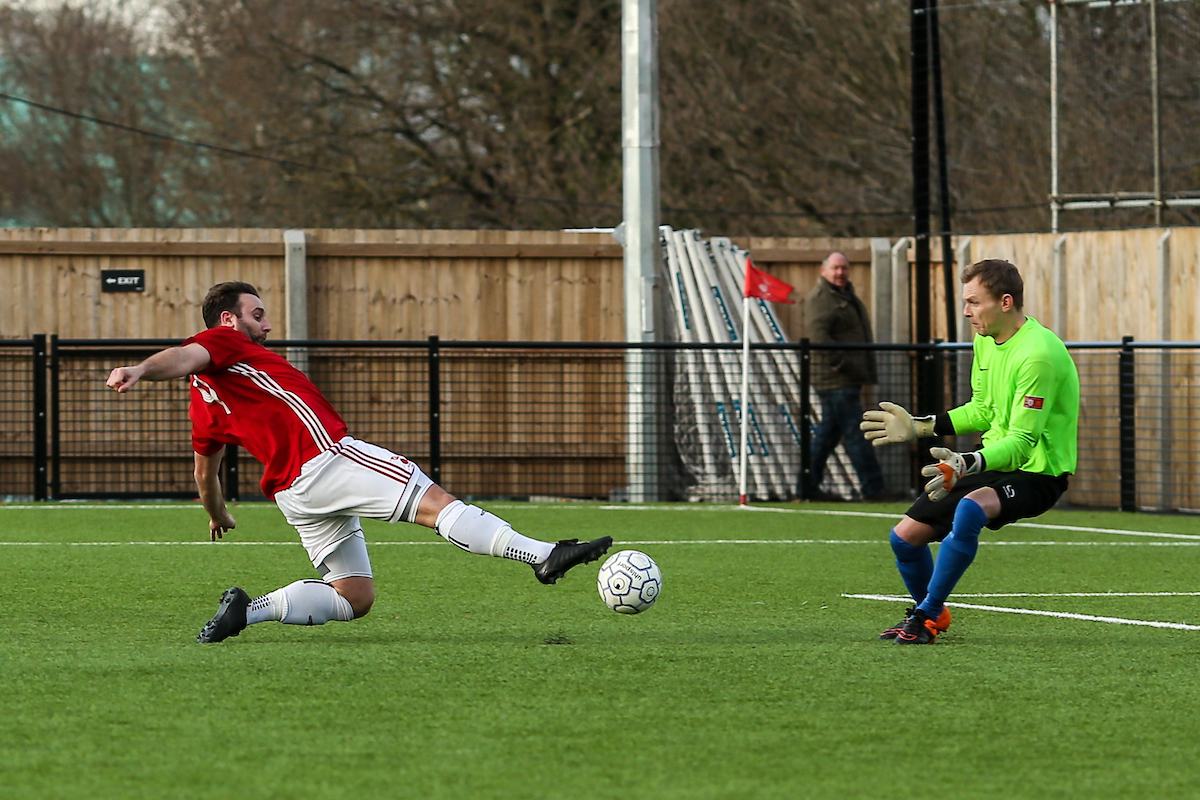Adam Cornell in action for Bracknell Town  Picture by Neil Graham