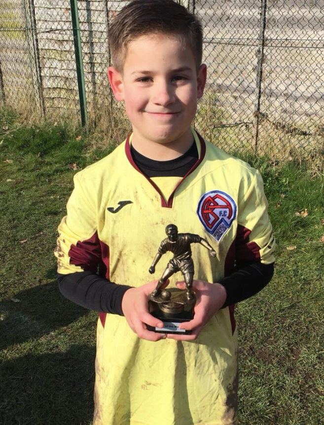 Bracknell Athletic Under 9s Razors goalkeeper Aston Foster Smith was man-of-the-match for his side