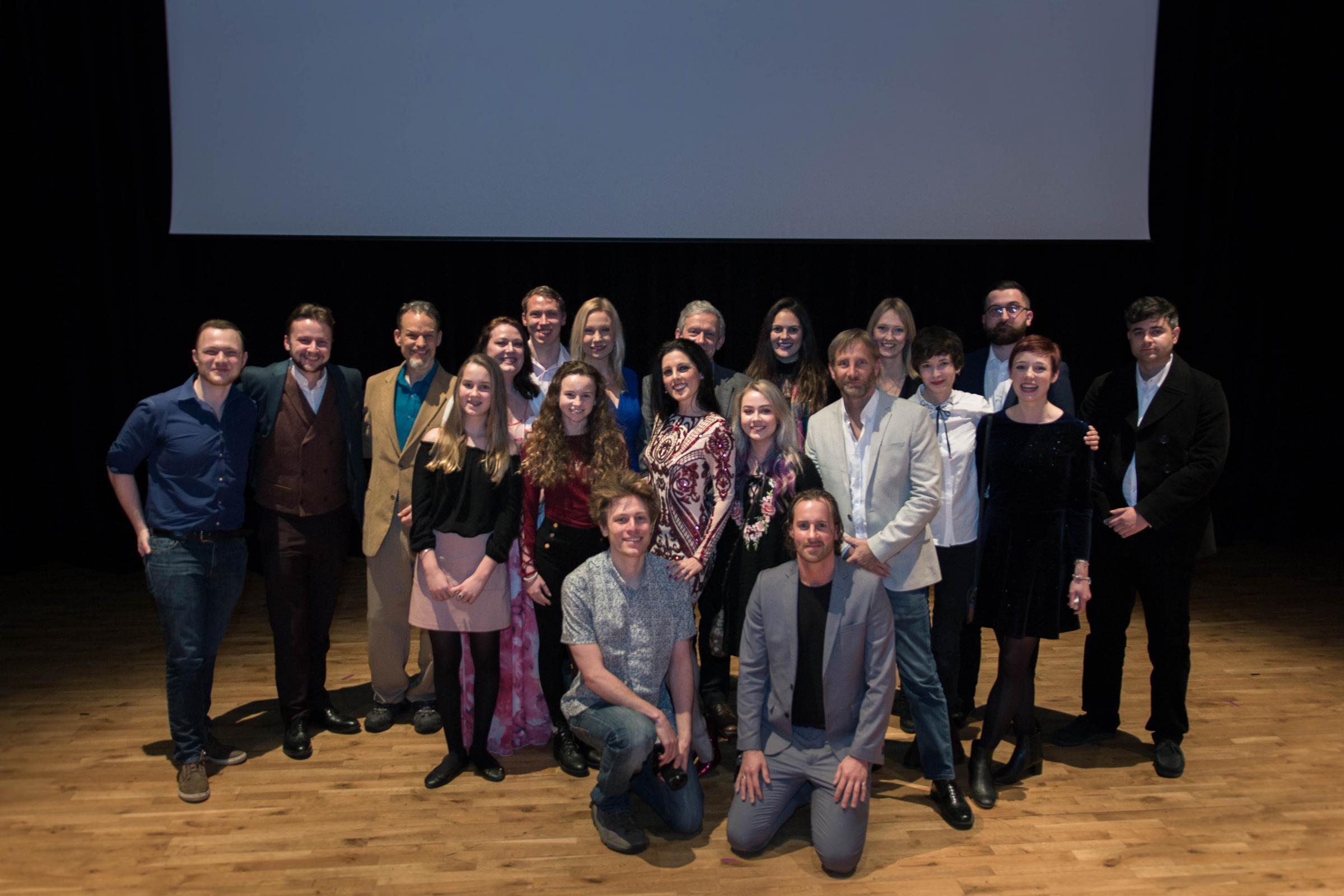 The cast and crew of Precognition.