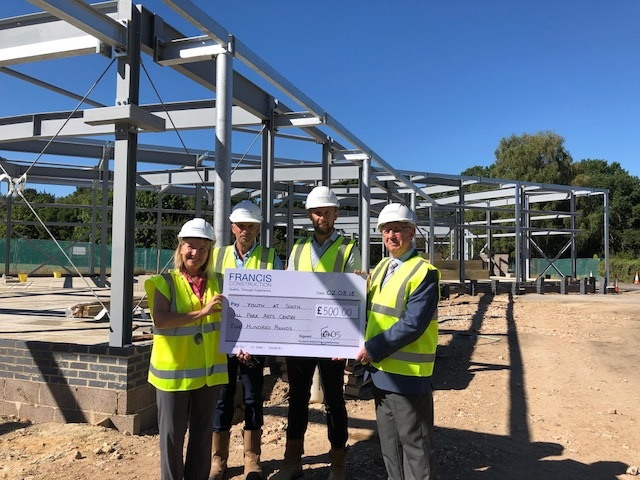 Charity receives boost from construction company