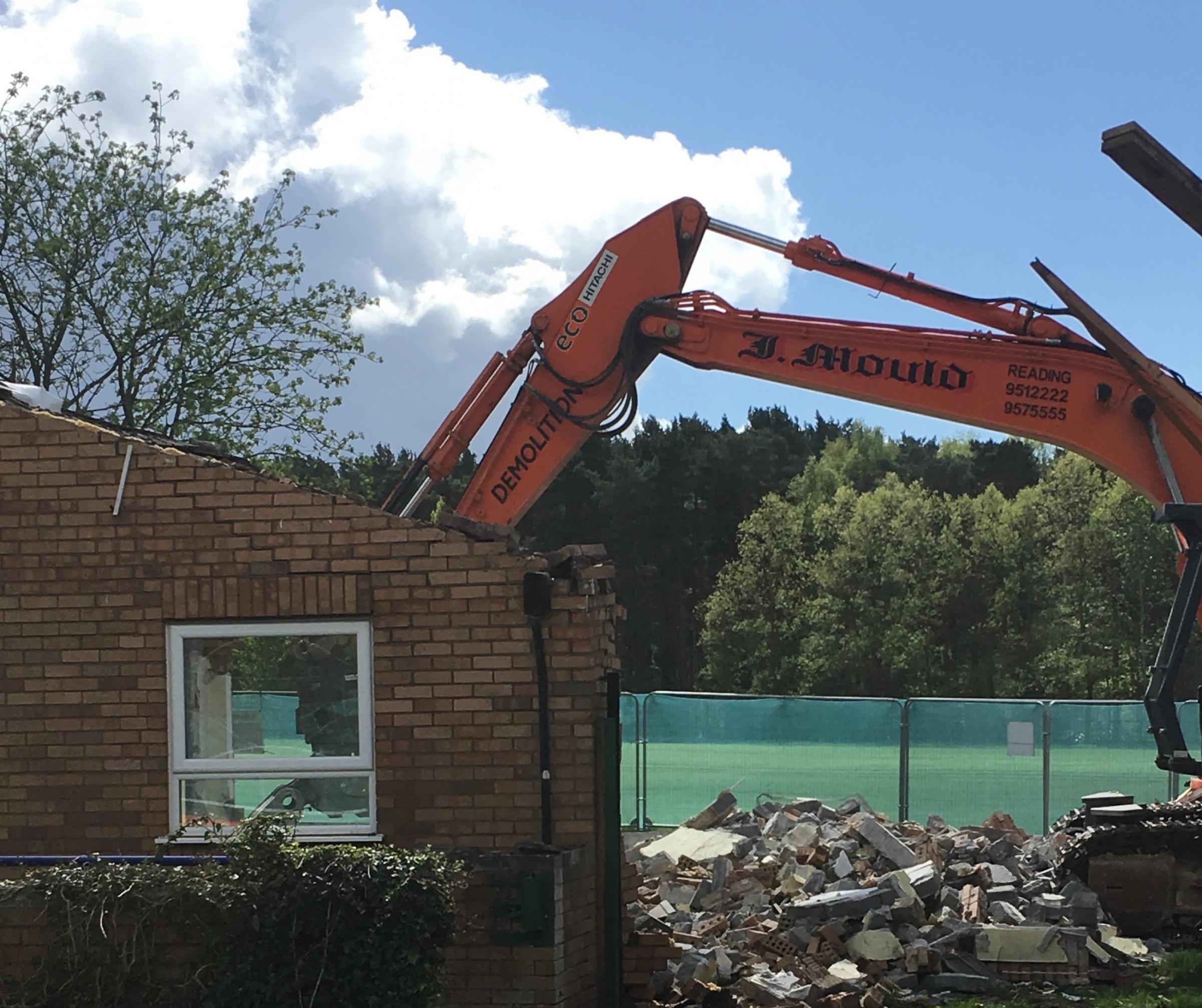 Demolition work has started at the pavilion in Great Hollands. Picture: Bracknell Town Council