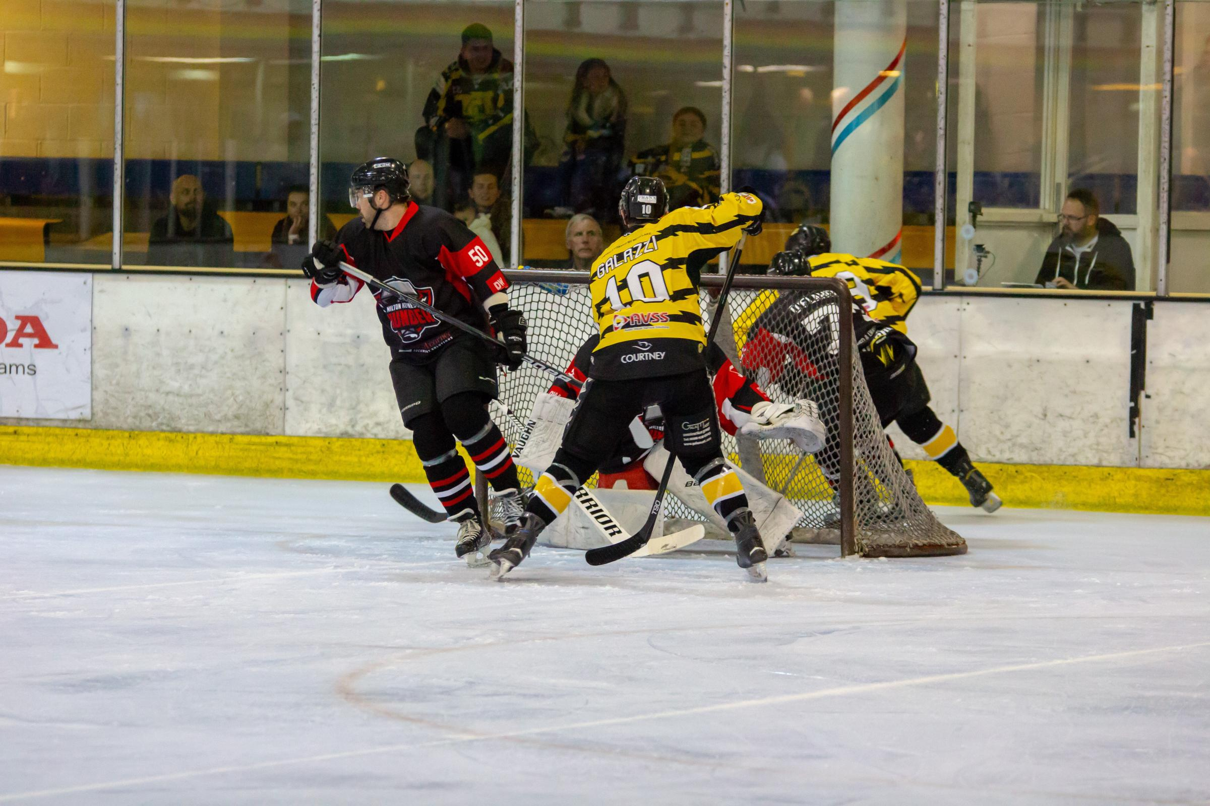 Action from Bracknell Bees' 2-0 home win against MK Thunder    Pictures by Dan Blackham
