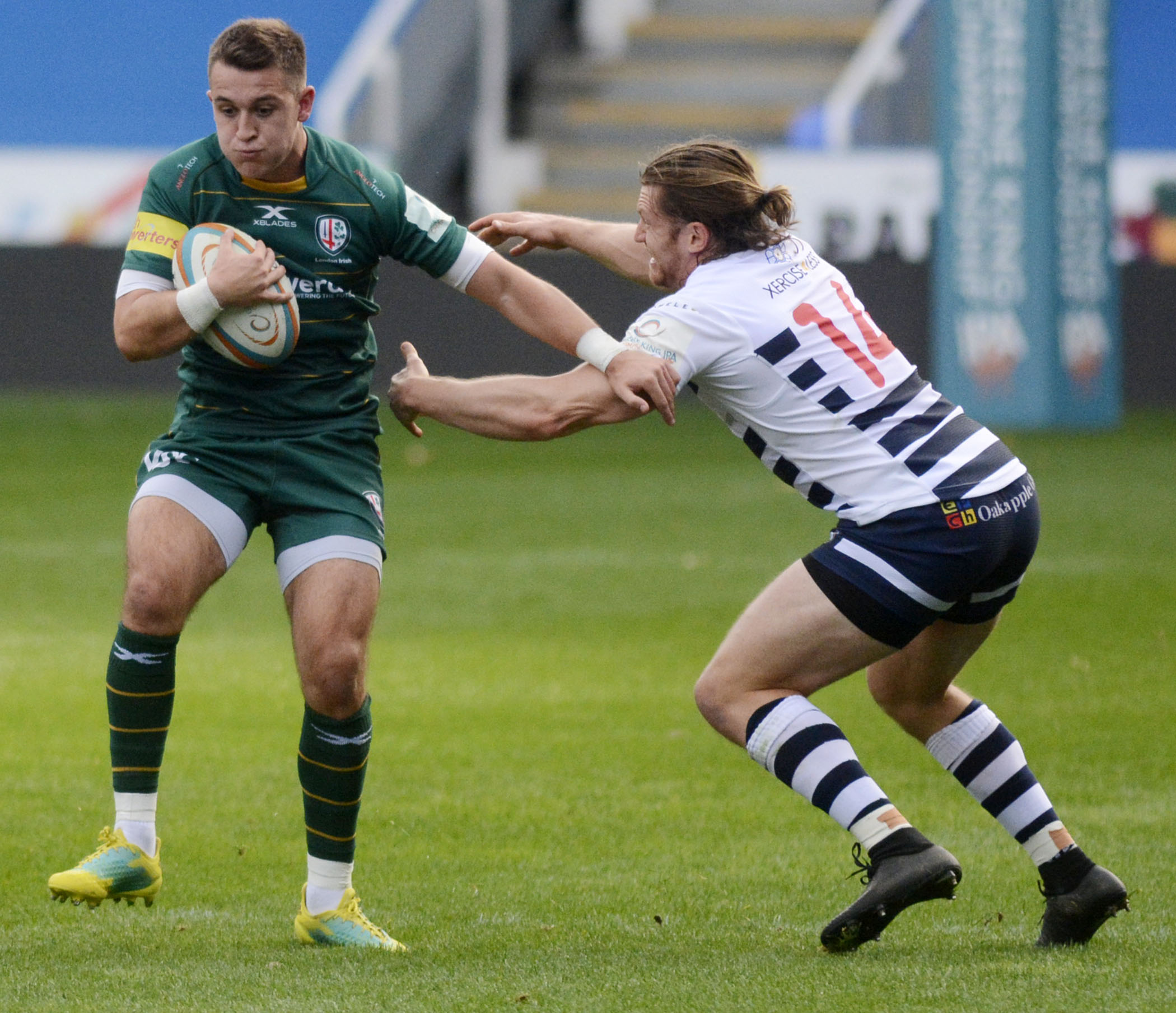 Tom Parton scored twice against Yorkshire Carnegie   Picture by Paul Johns   181027