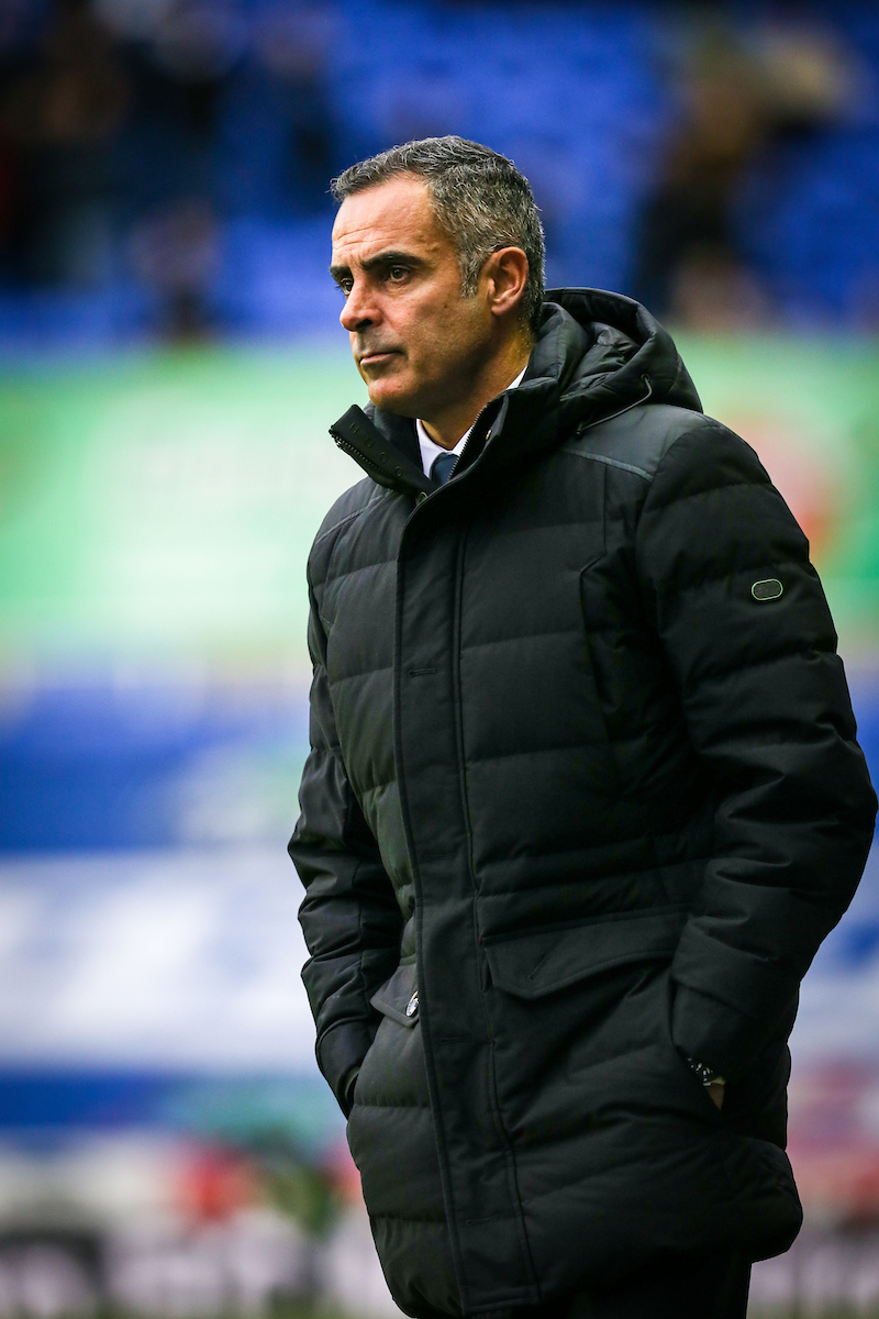 A glum-looking Jose Gomes watches his side lose to Swansea City. Pictures: Jasonpix