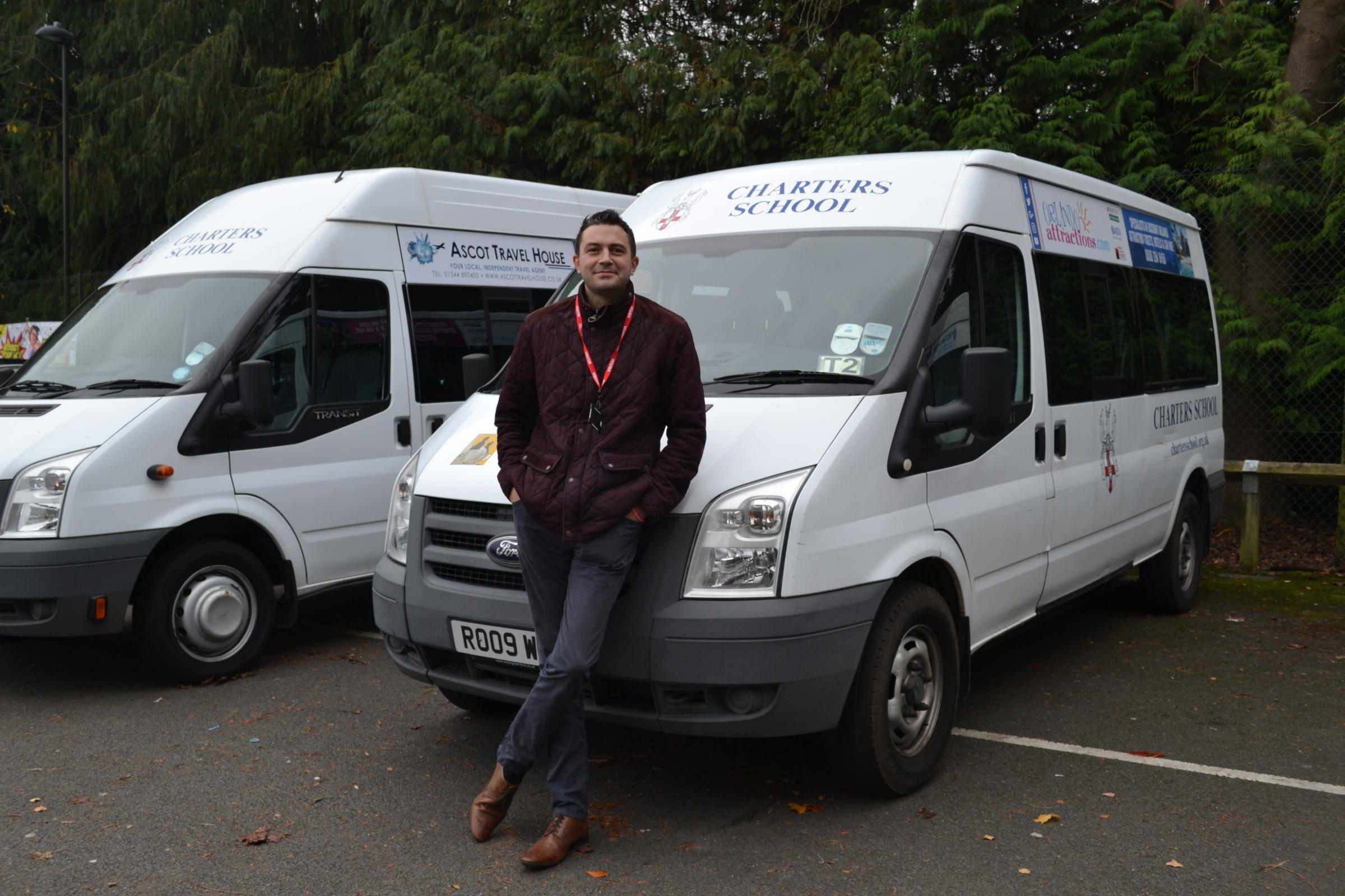 Simon Everett pictured with the mini buses