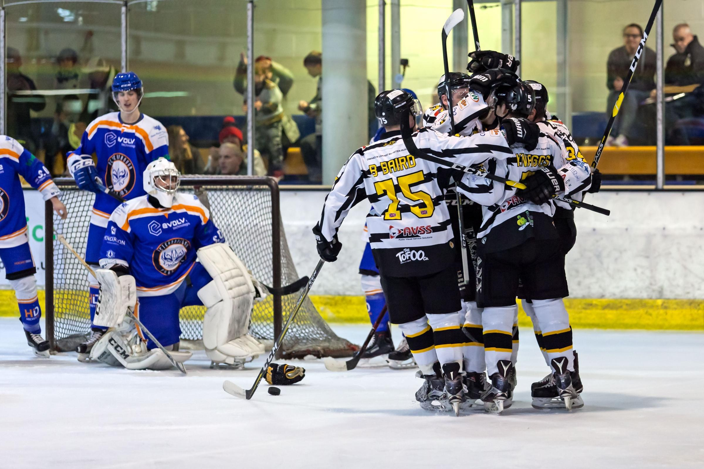 Bees v Phantoms - Bees goal celebration - by Kevin Slyfield