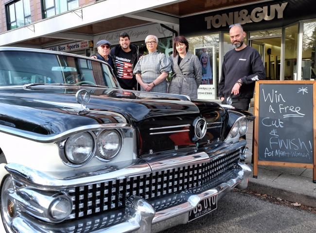 Toni and Guy and the Buick at Ascot High St branch - Picture: Mike Swift