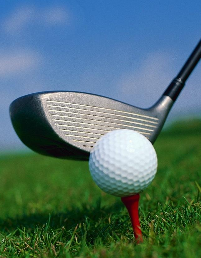 Close-up of Golf Club and Golf Ball.
