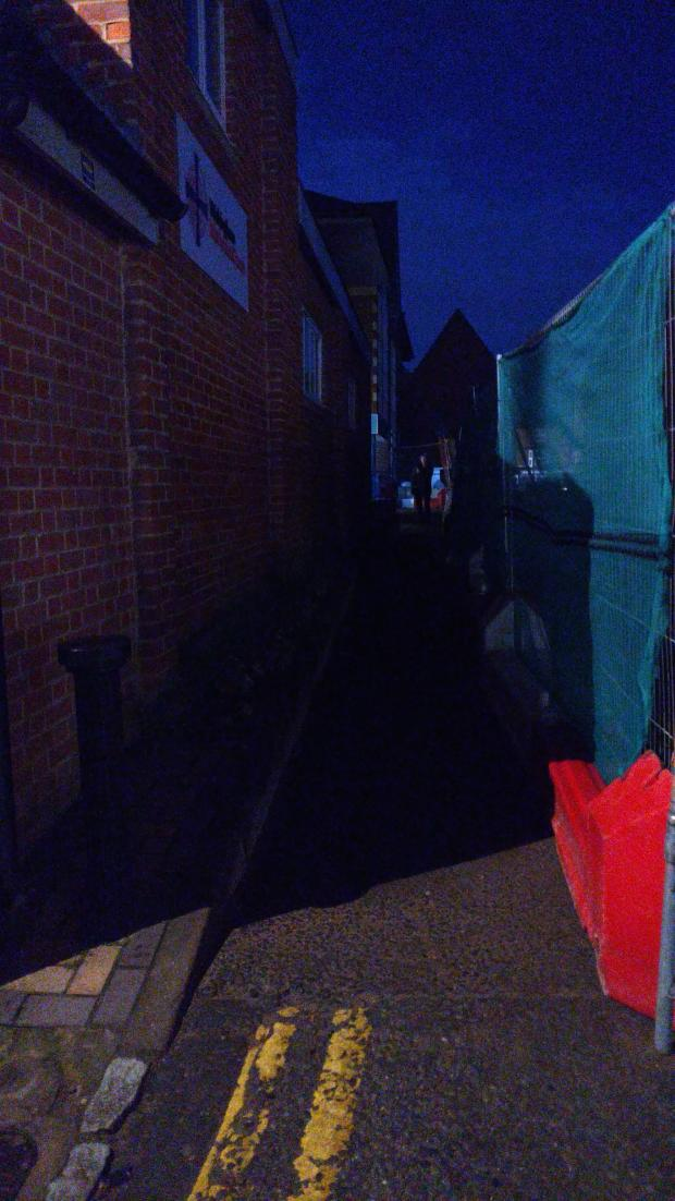 Bracknell News: The alleyway leading to the Wokingham Methodist Church