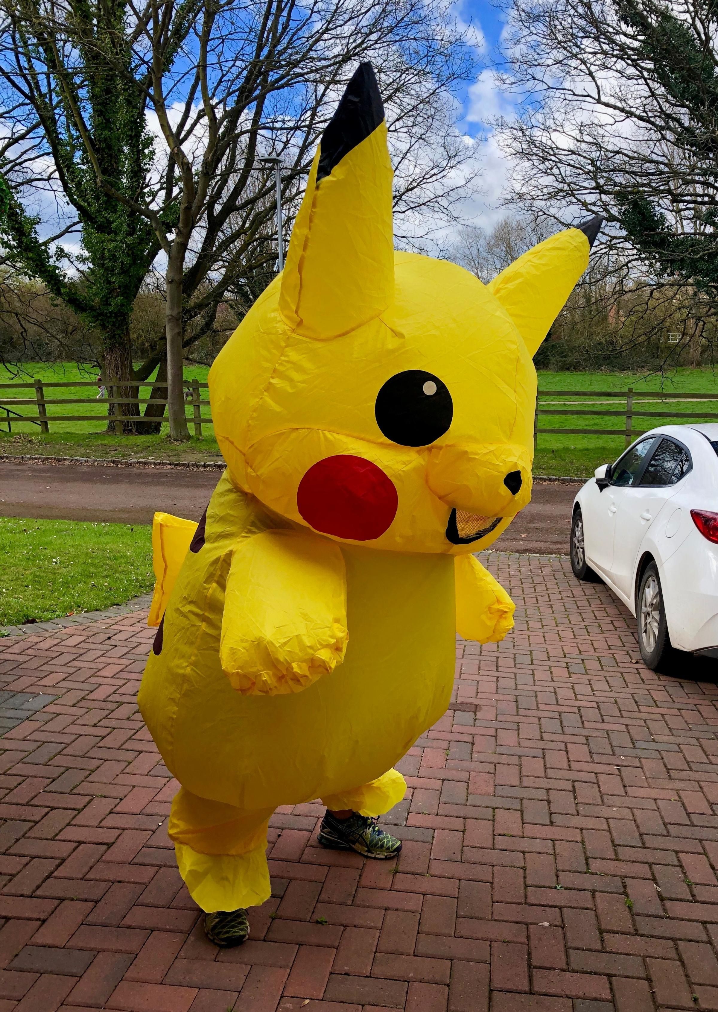 Wokingham man runs as Pikachu A dedicated supporter of a charity will be running in a marathon dressed as the famous Pokémon character Pikachu