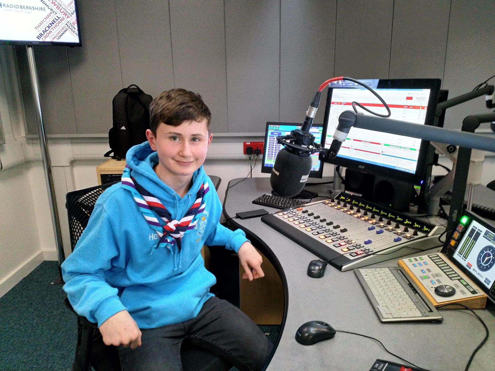 A student from a school in Wokingham has appeared on BBC Radio Berkshire after raising money to go on a trip to America.
