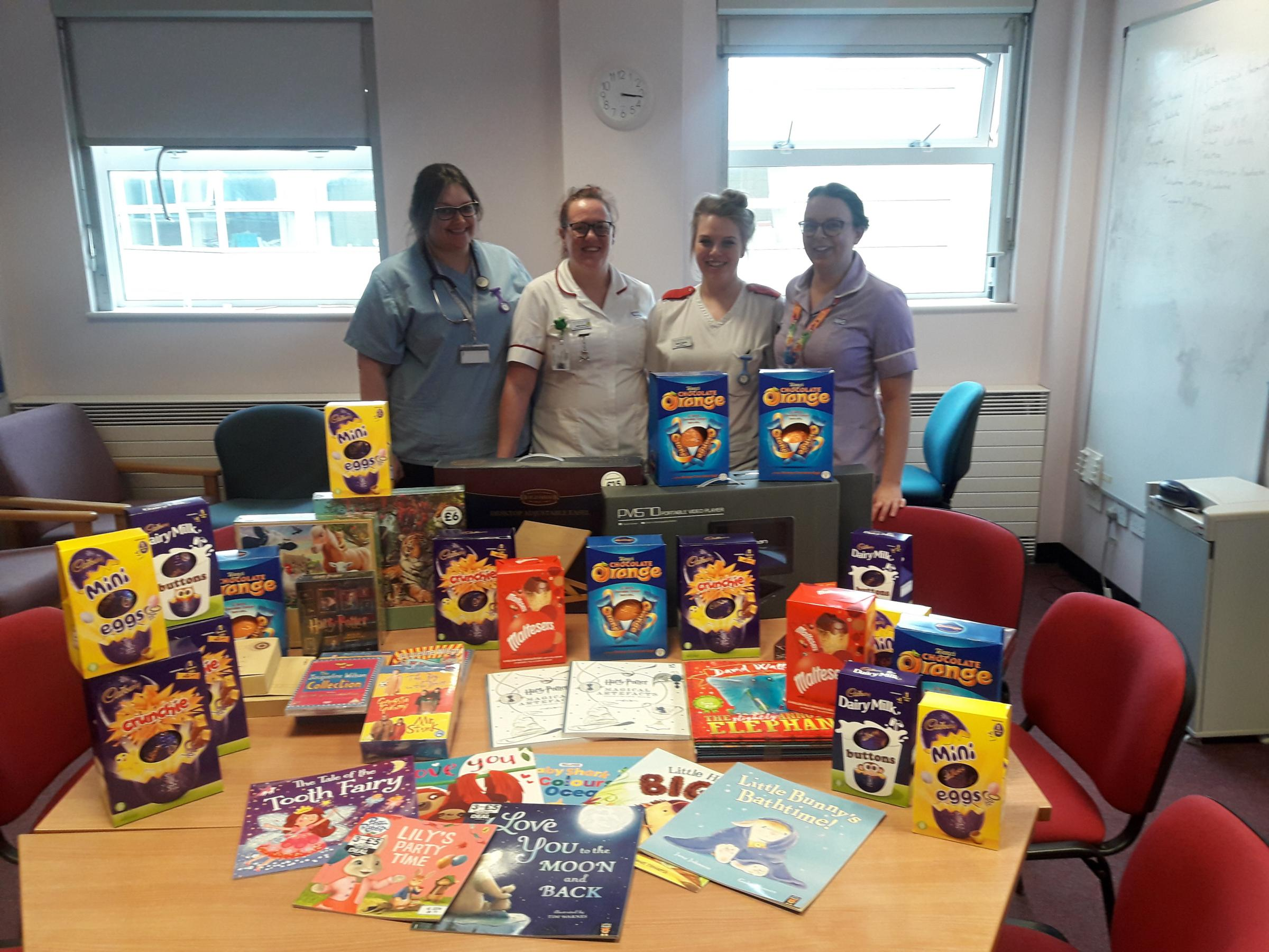 Customers at a pub in Wokingham have been busy donating chocolate Easter eggs for ill children at the Royal Berkshire Hospital