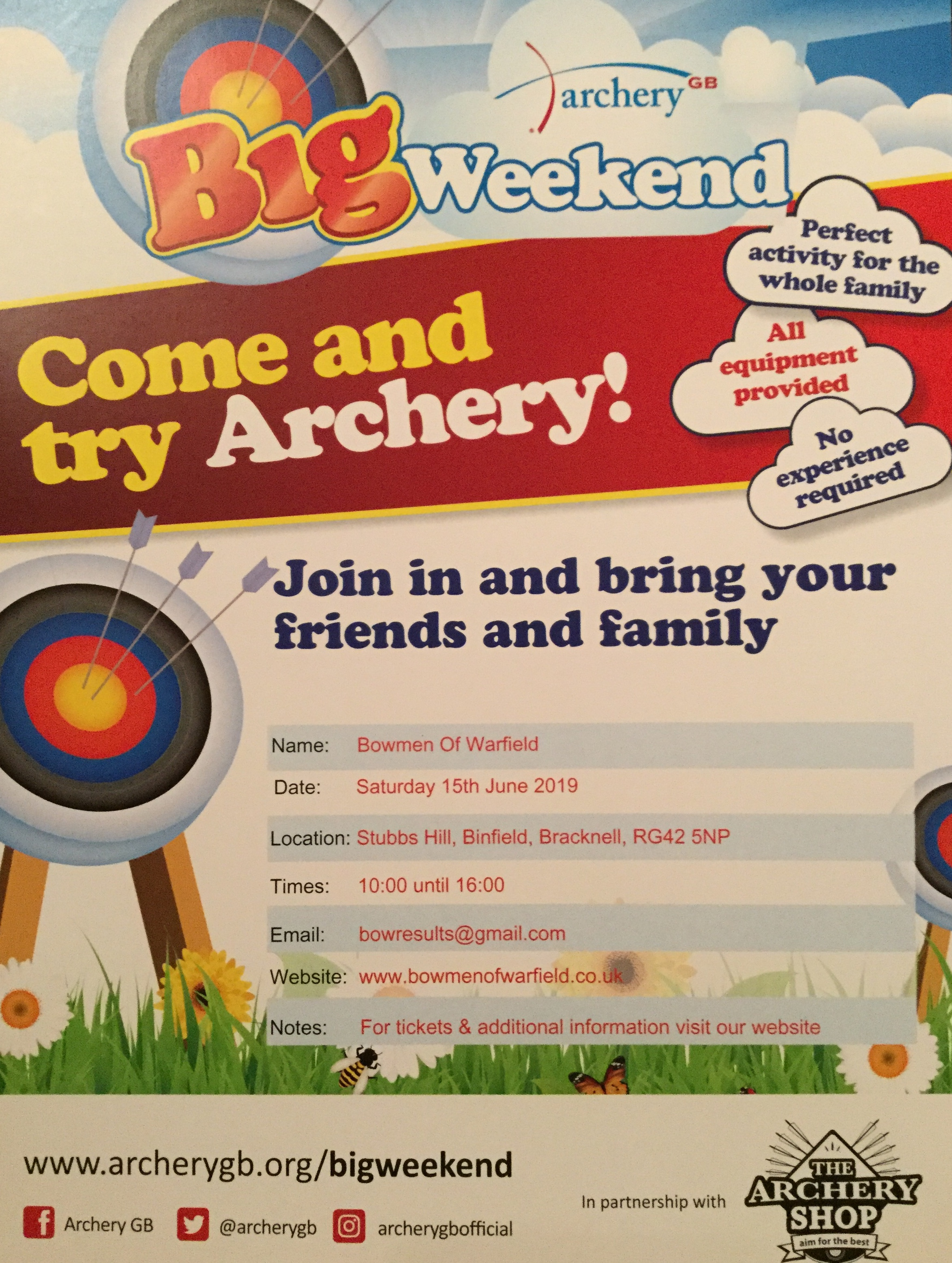 Big Weekend - Come And try archery