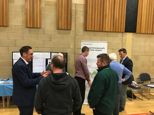 An exhibition displaying plans to revamp the water network around Finchampstead drew significant crowds last week
