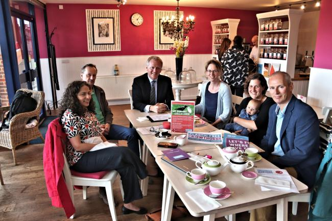 The MP for Bracknell has had afternoon tea with the Crowthorne Reduce Our Waste group in order to celebrate their achievements