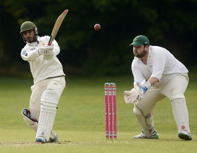 (190534) Crowthorne and Crown Wood (bowling) v BCS (batting) - pics by Paul Johns.Usman Asif.