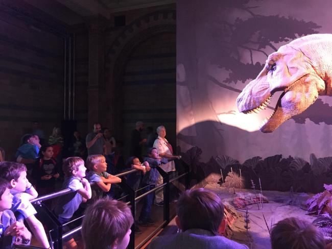 Students from a school in Ascot have visited the Natural History Museum as part of a school project
