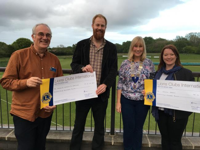 Two charities have received funding from the Wokingham Lions Club to help the community