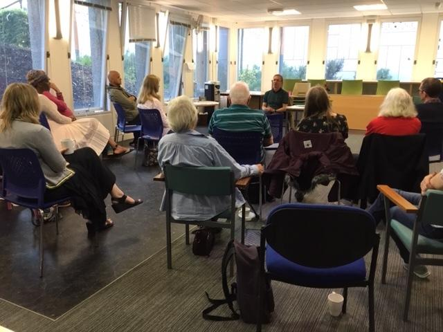 David Barker share knowledge at Bracknell library