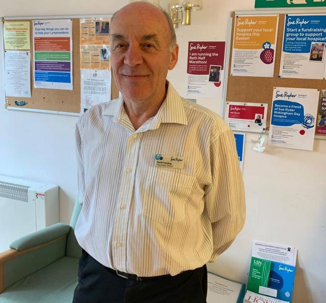 Derek Harding has volunteered for Sue Ryder Wokingham Day Hospice for the passed four years