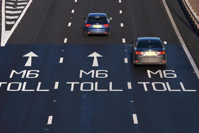 The M6 Toll opened in 2003 to ease congestion on the M6 through Birmingham (Joe Giddens/PA)